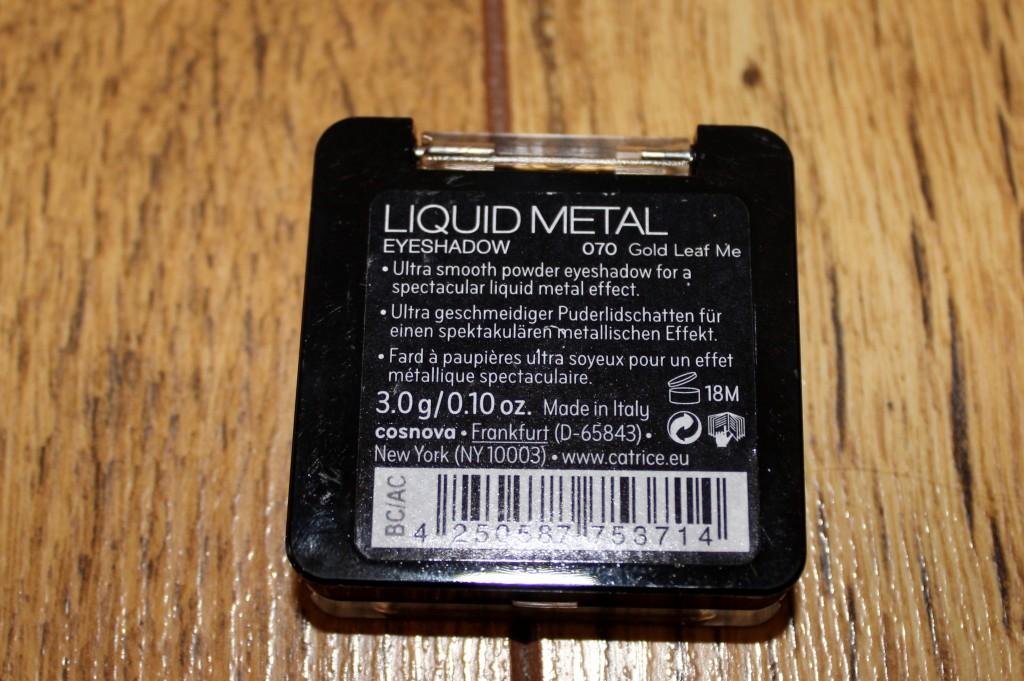 liquid metal eyeshadow gold leaf me