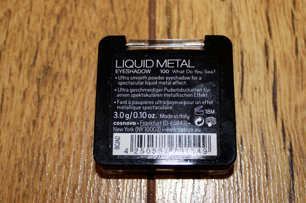 catrice liquid metal eyeshadow 100 what do you sea