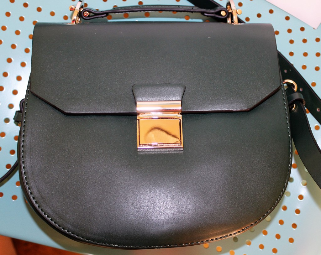 zara green bag