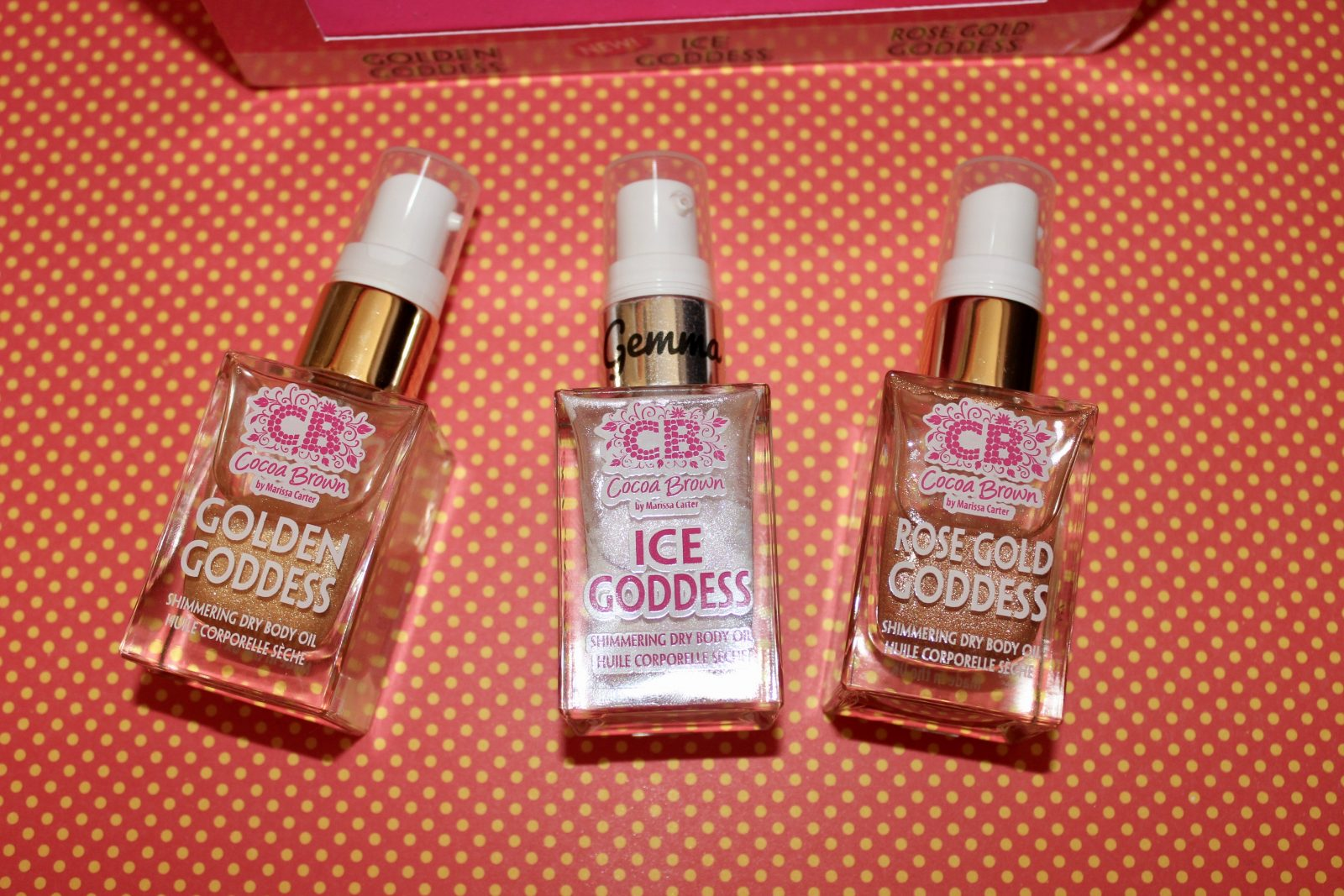 Cocoa Brown Ice Goddess Shimmering Dry Body Oil